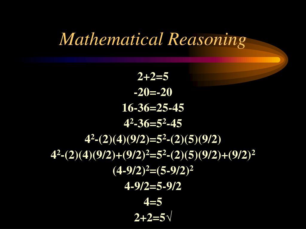 Mathematical Reasoning