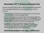 november 15 th is america recycles day