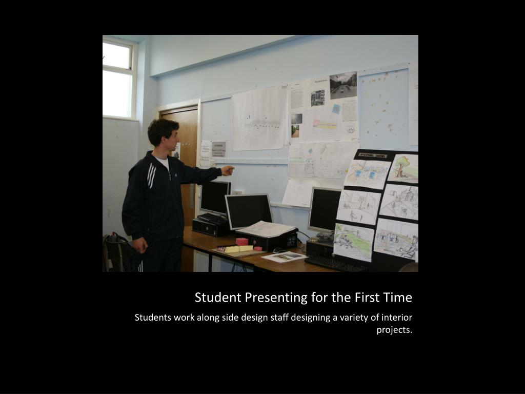 Student Presenting for the First Time