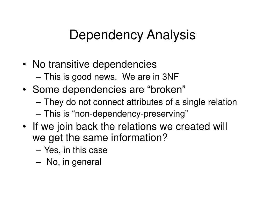 Dependency Analysis