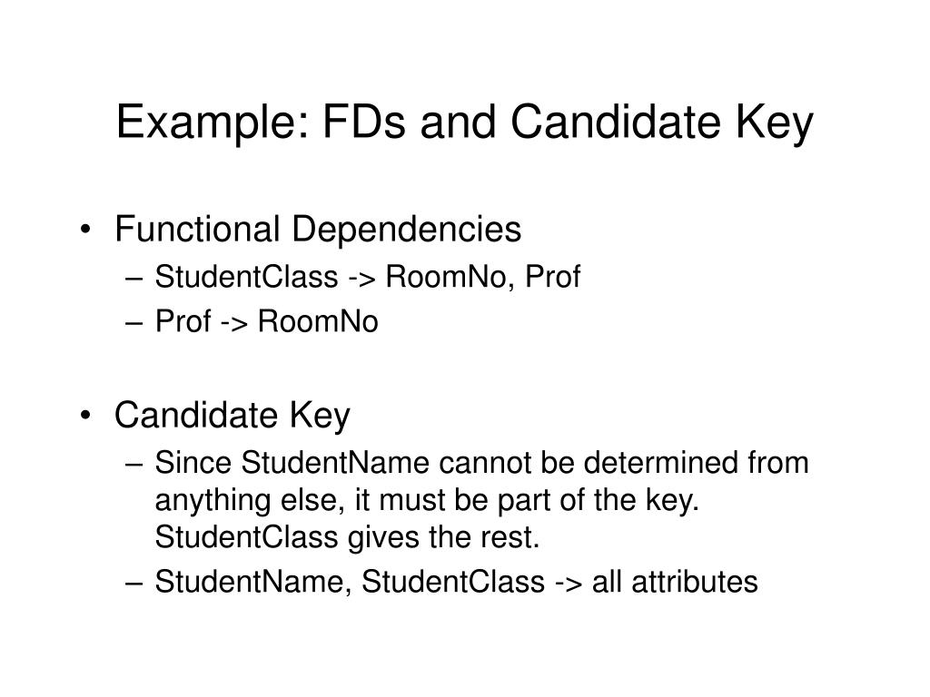Example: FDs and Candidate Key