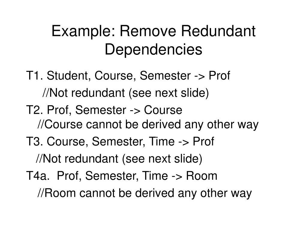 Example: Remove Redundant Dependencies
