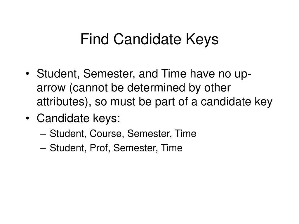Find Candidate Keys