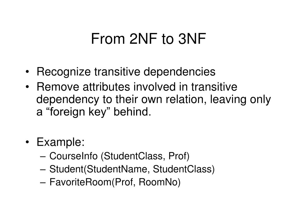 From 2NF to 3NF