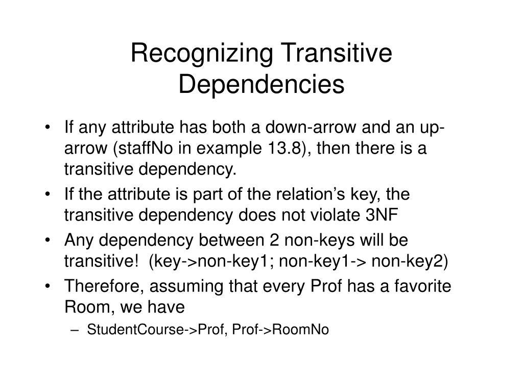 Recognizing Transitive Dependencies