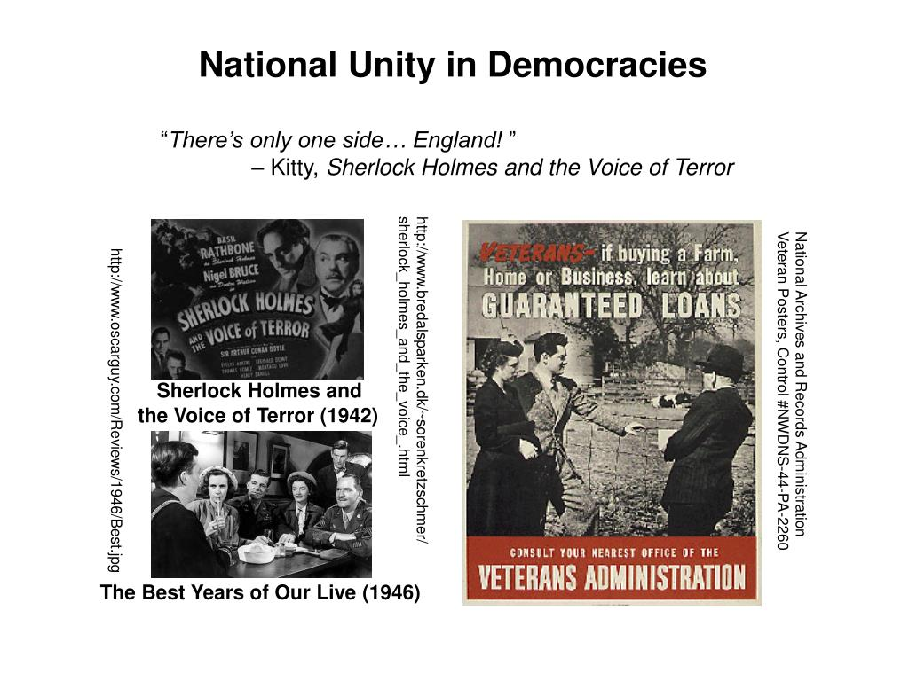 National Unity in Democracies