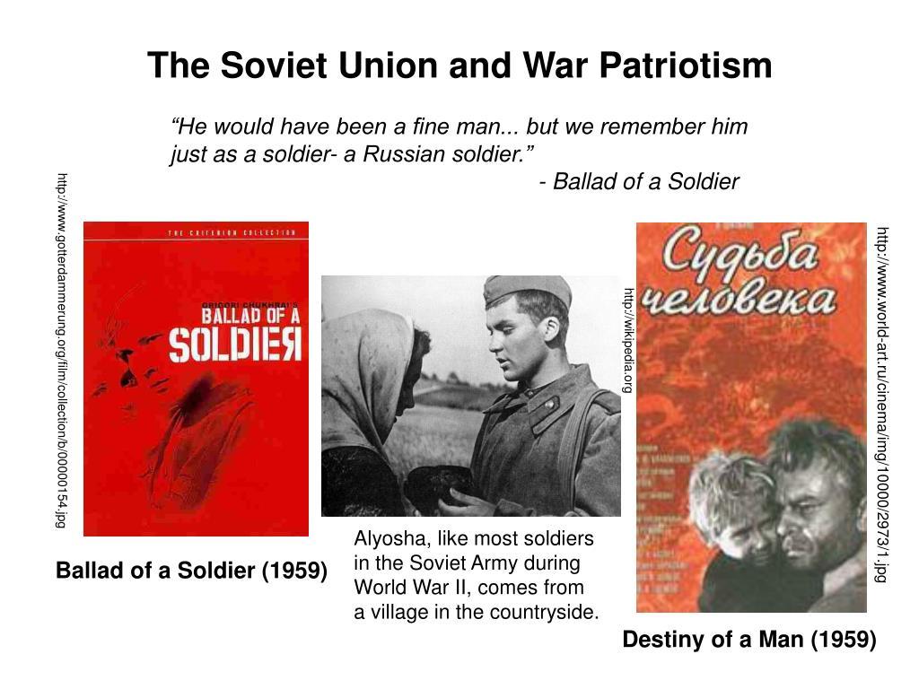 The Soviet Union and War Patriotism