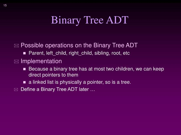 Binary Tree ADT
