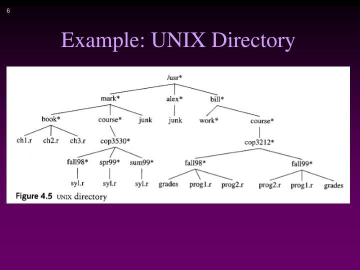 Example: UNIX Directory