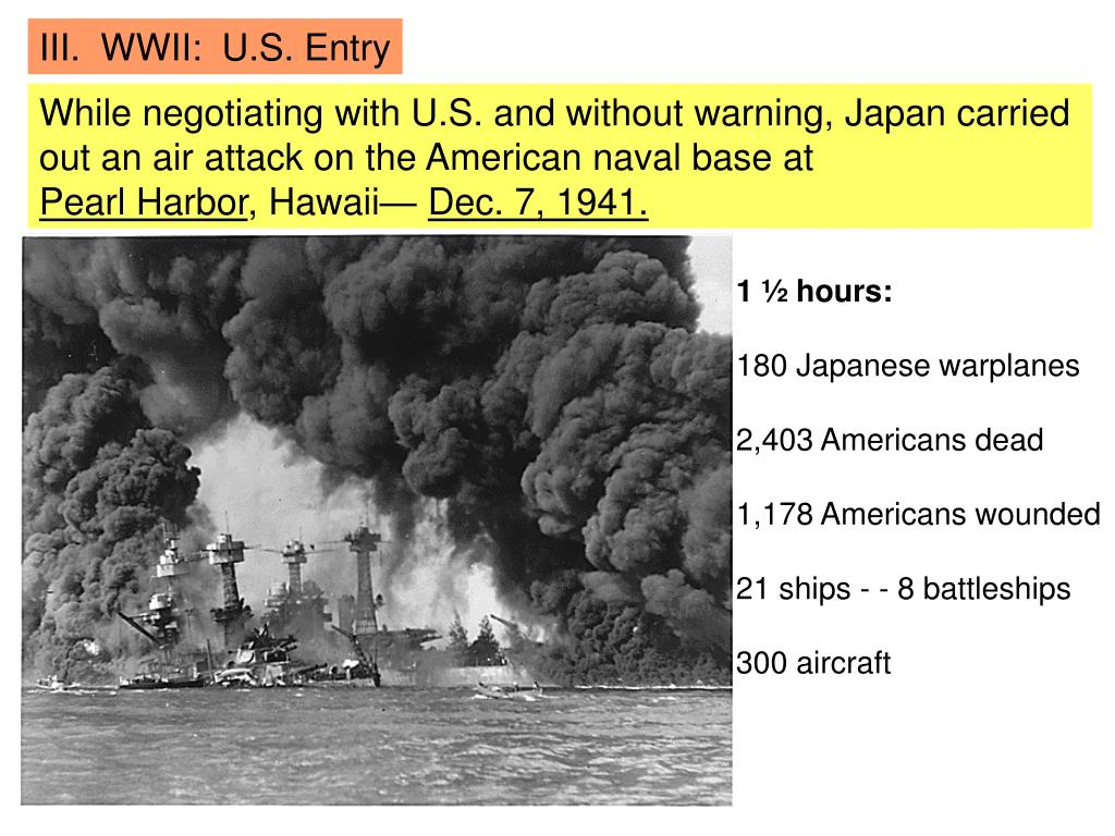 III.  WWII:  U.S. Entry