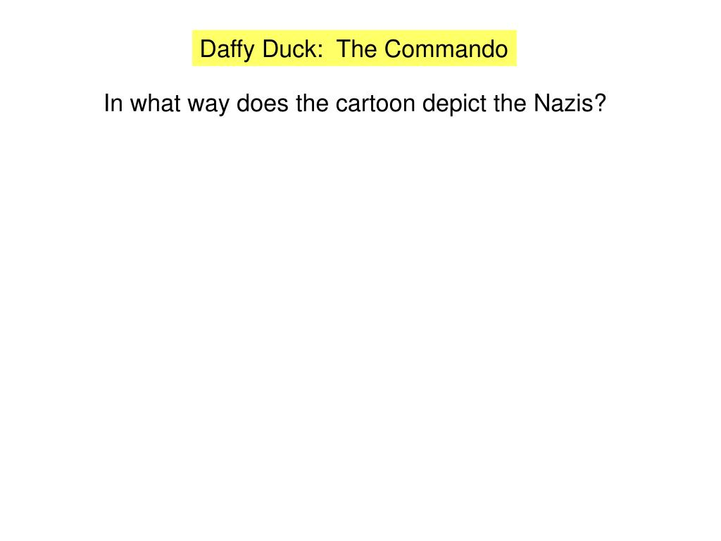 Daffy Duck:  The Commando