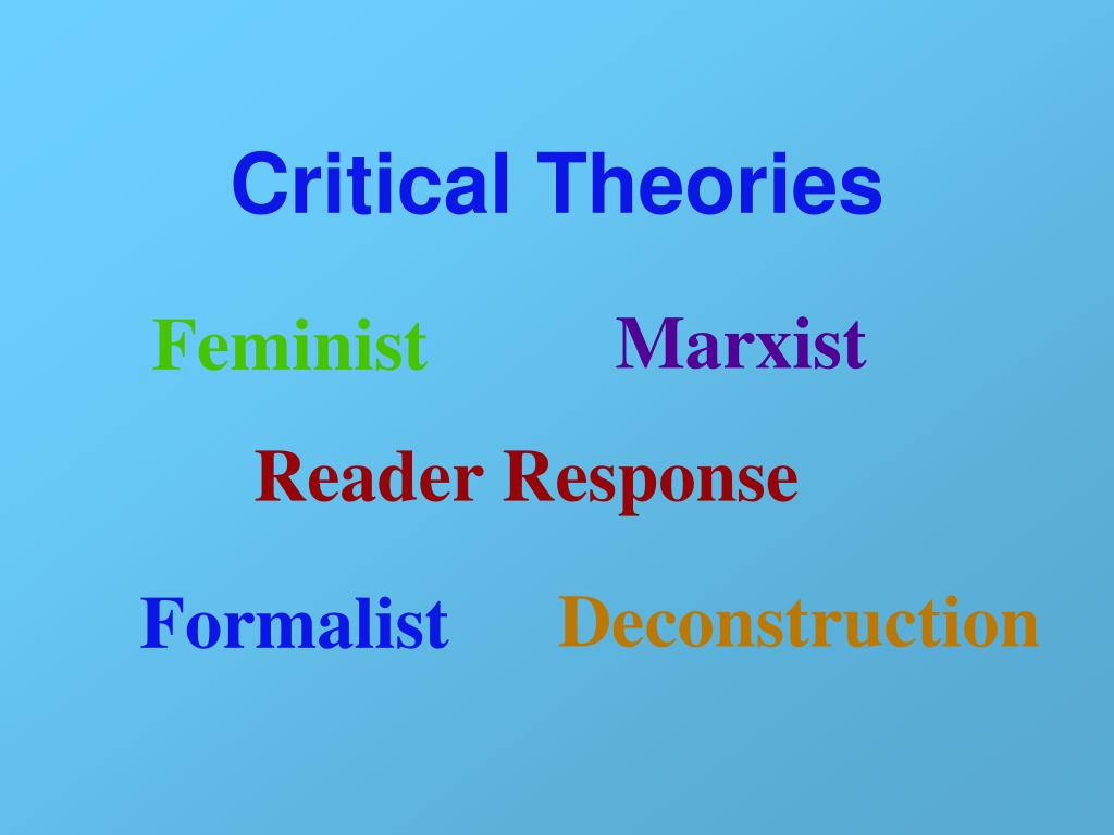 critical theories The most recent of the single volume bibliographies, baker and womack's book  provides annotated entries for 1,876 monographs in critical.