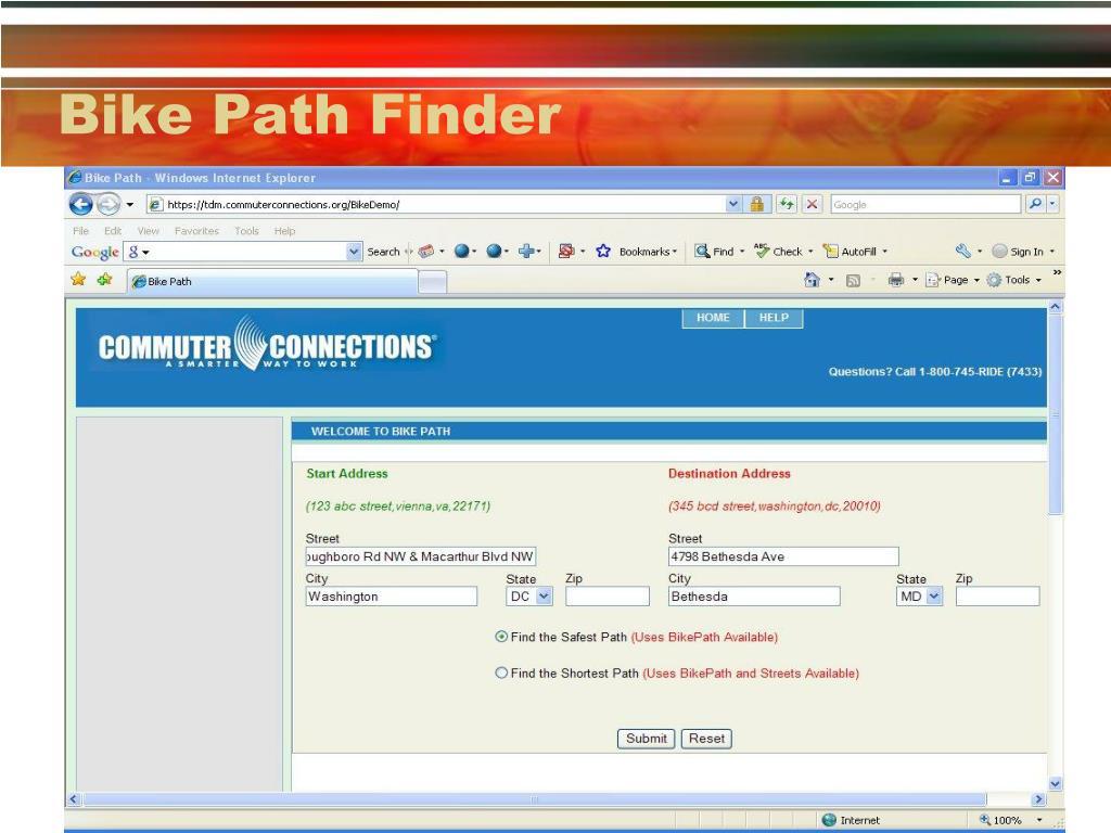 Bike Path Finder