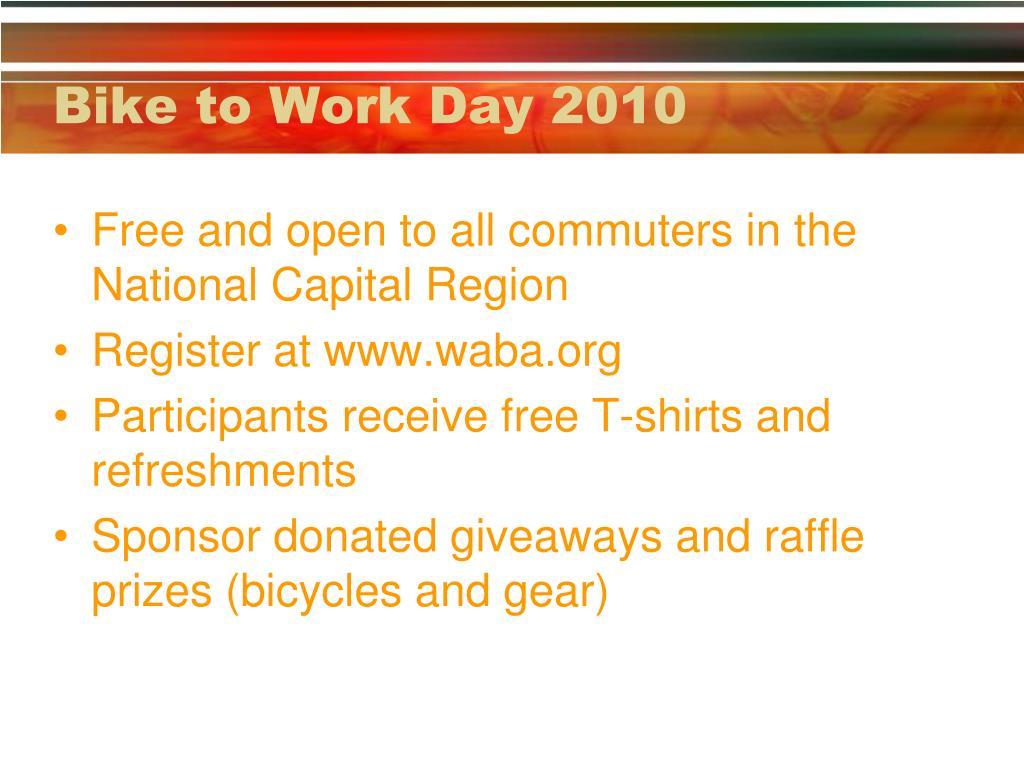 Bike to Work Day 2010