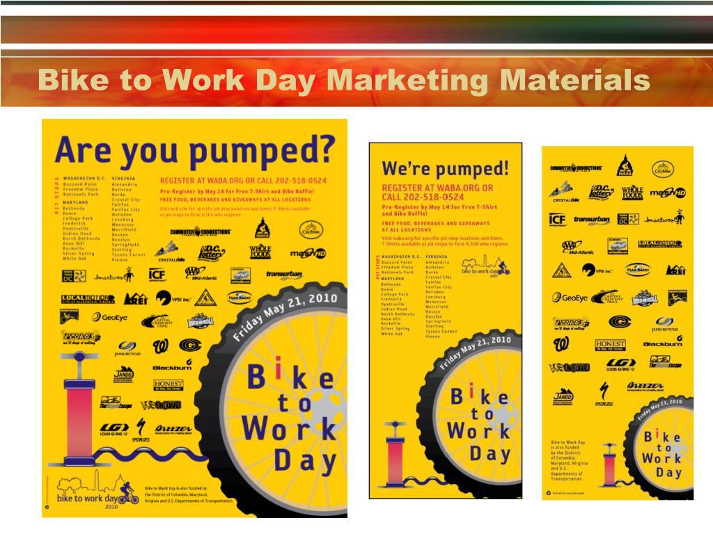 Bike to Work Day Marketing Materials