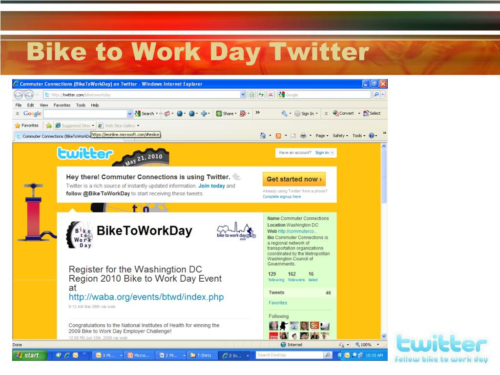 Bike to Work Day Twitter