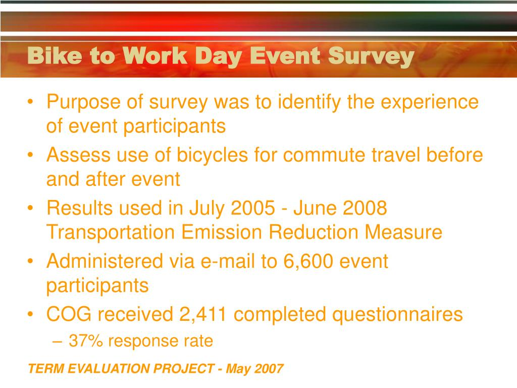 Bike to Work Day Event Survey