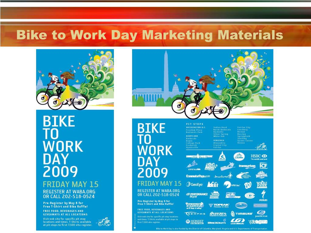 Bike to Work Day Marketing Materials