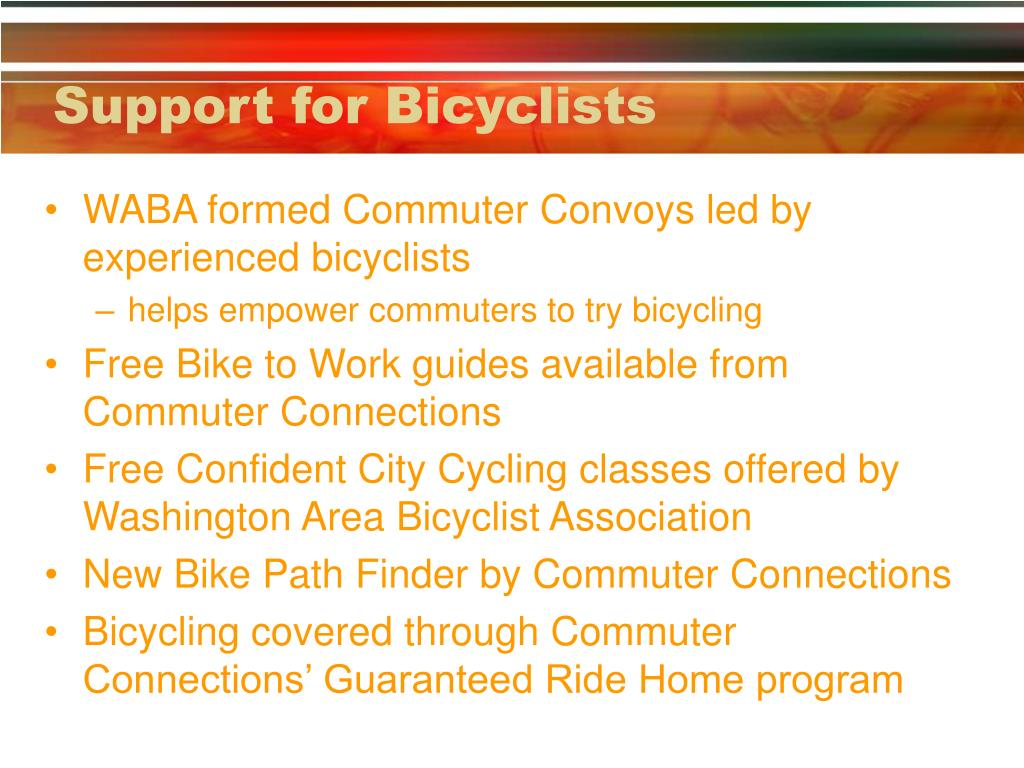 Support for Bicyclists