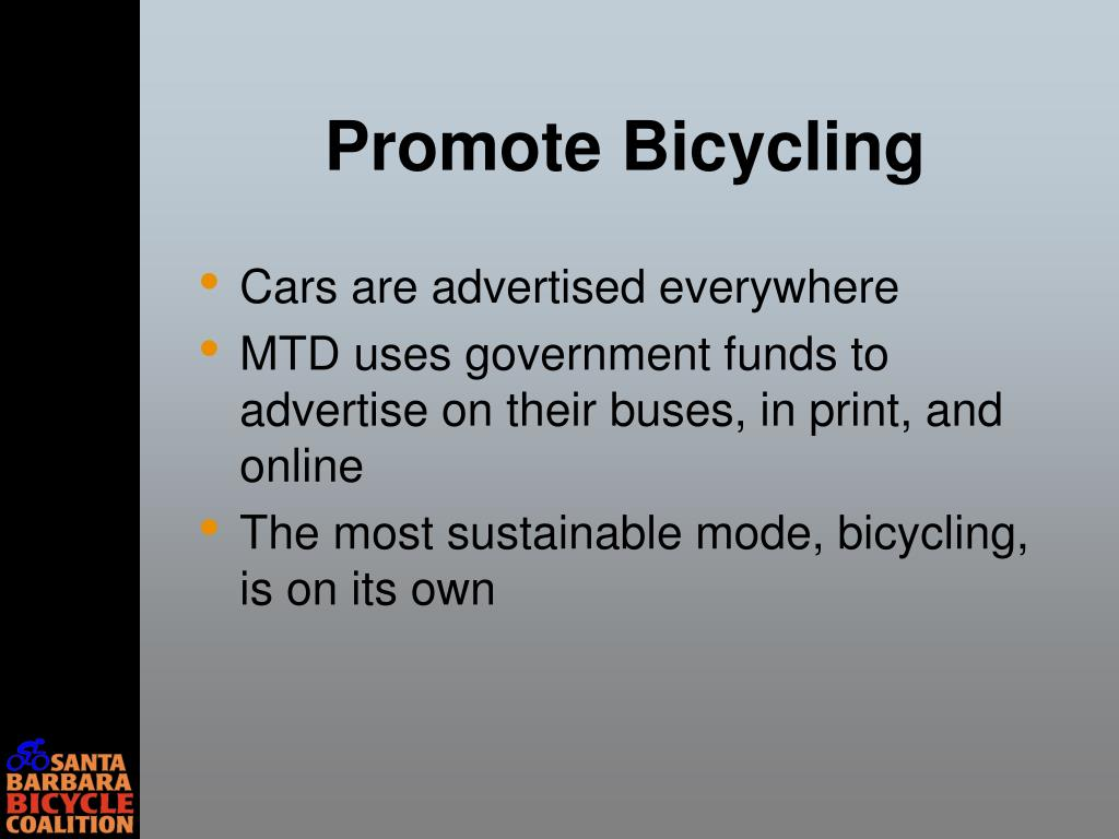 Promote Bicycling