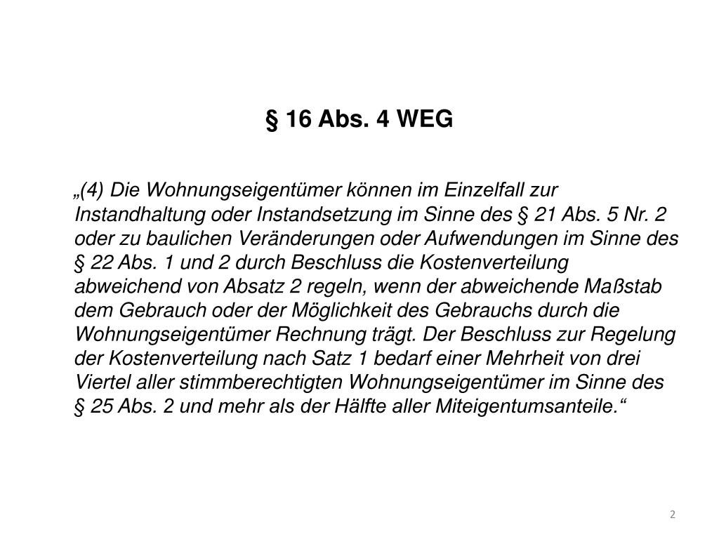 § 16 Abs. 4 WEG