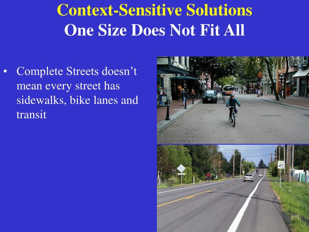 Context-Sensitive Solutions