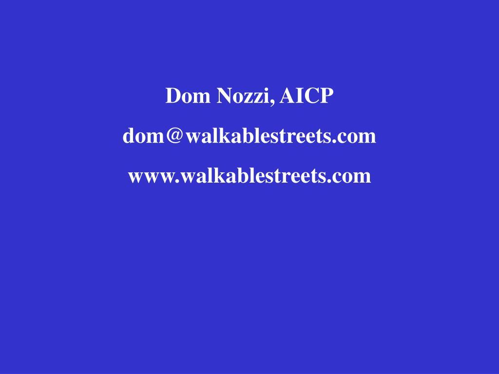Dom Nozzi, AICP