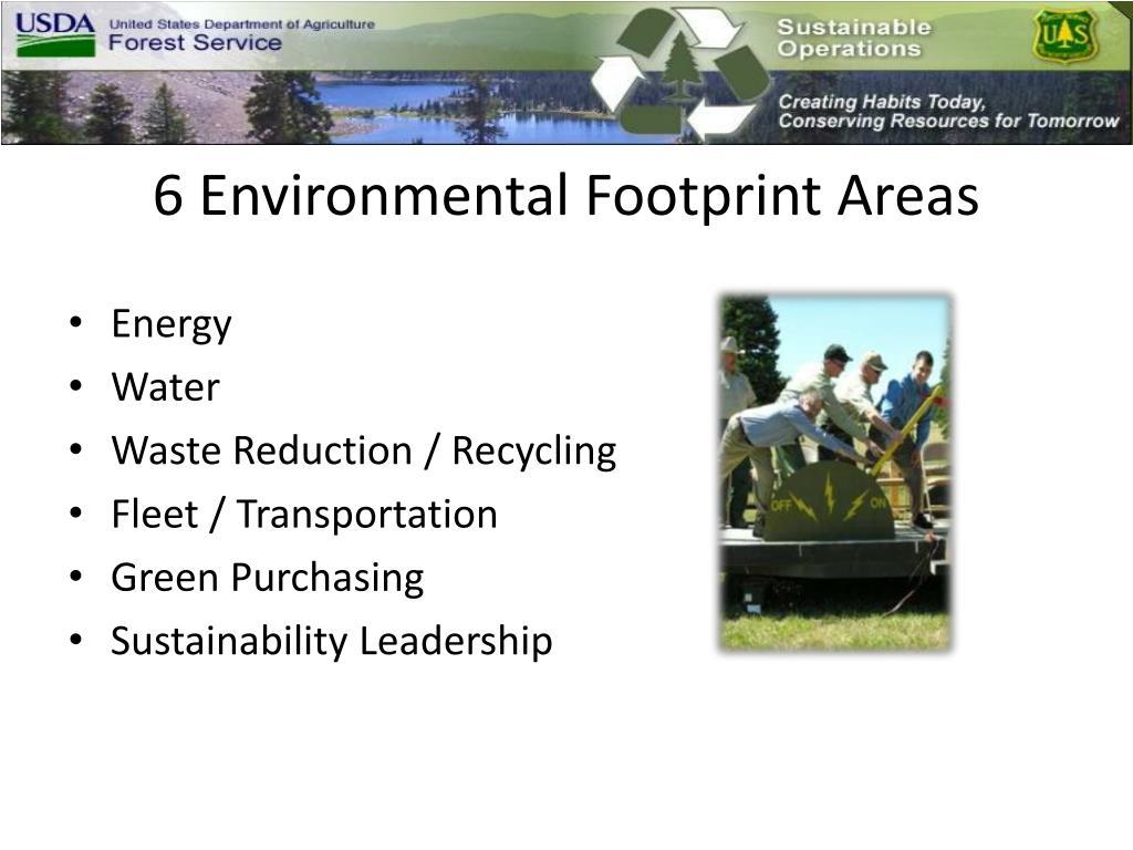 6 Environmental Footprint Areas