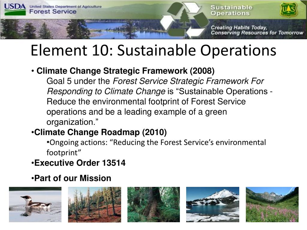 Element 10: Sustainable Operations