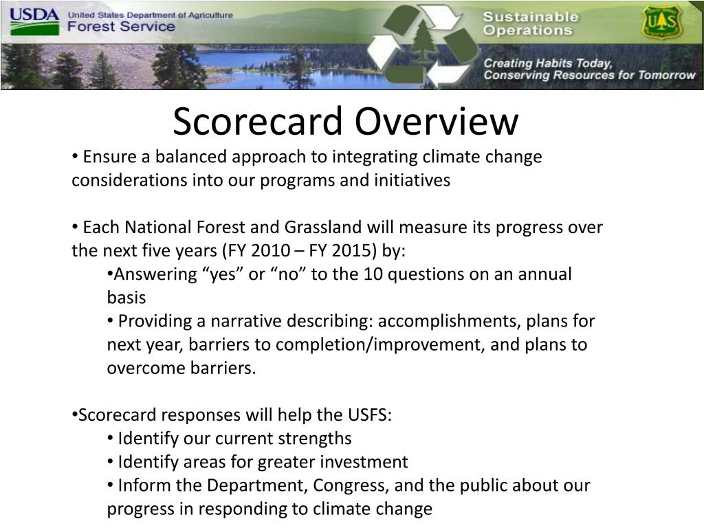 Scorecard Overview