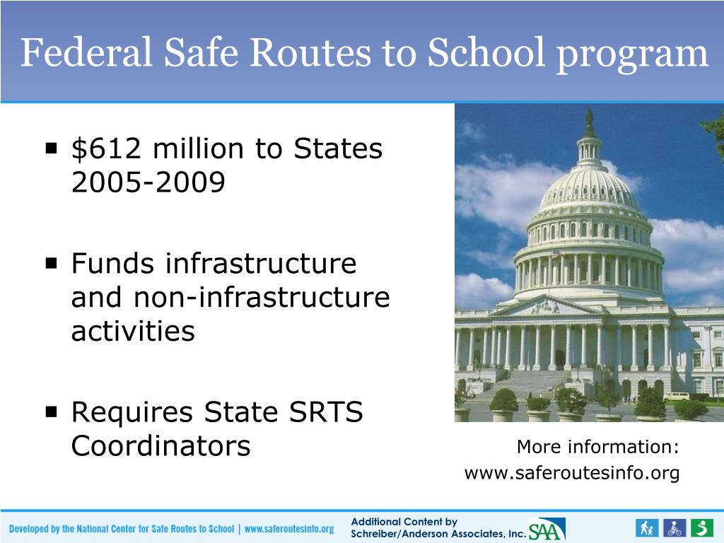 Federal Safe Routes to School program