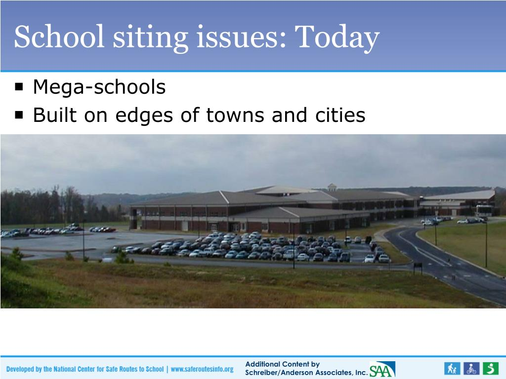 School siting issues: Today