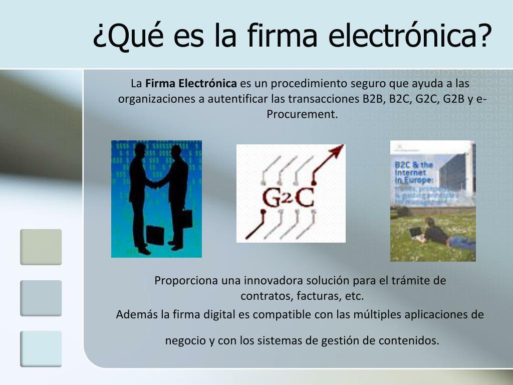 ¿Qué es la firma electrónica?