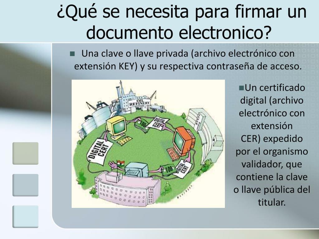 ¿Qué se necesita para firmar un documento electronico?