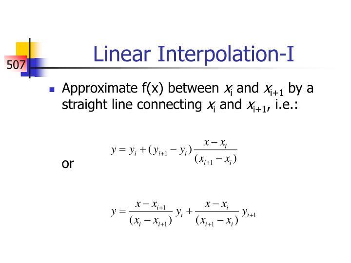 Linear Interpolation-I
