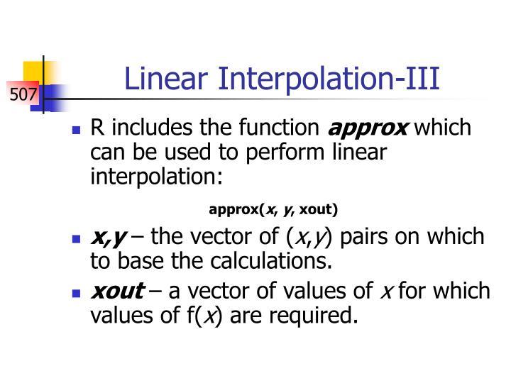 Linear Interpolation-III