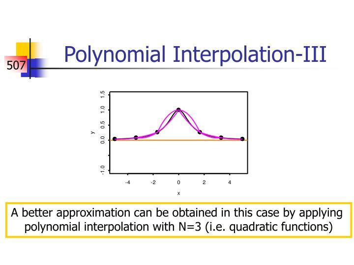 Polynomial Interpolation-III