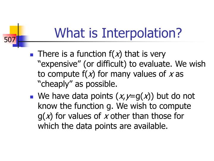 What is interpolation