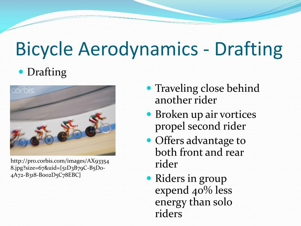 Bicycle Aerodynamics - Drafting