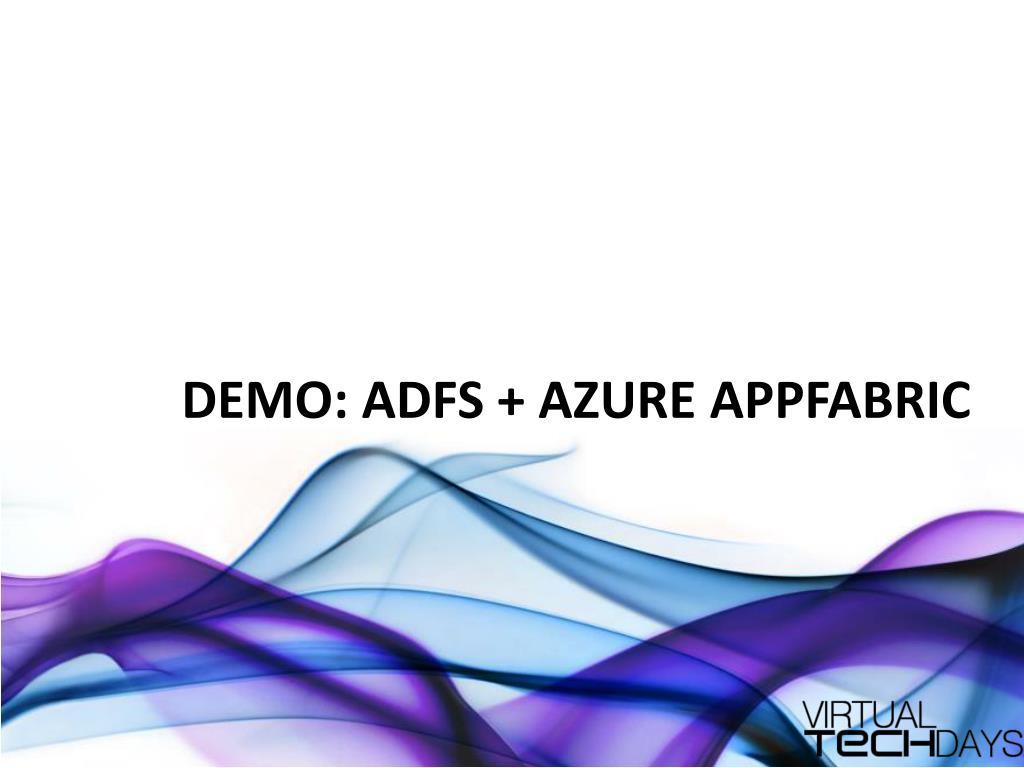 DEMO: ADFS + Azure
