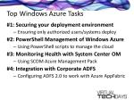 top windows azure tasks