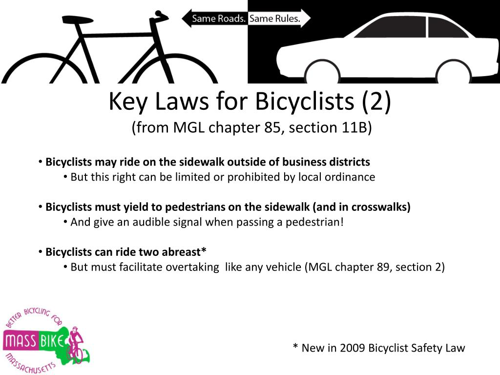 Key Laws for Bicyclists (2)