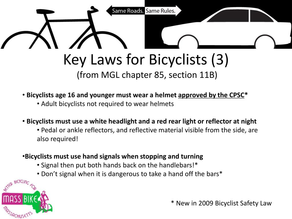 Key Laws for Bicyclists (3)