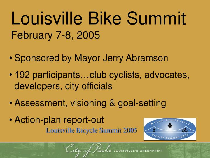 Louisville Bike Summit