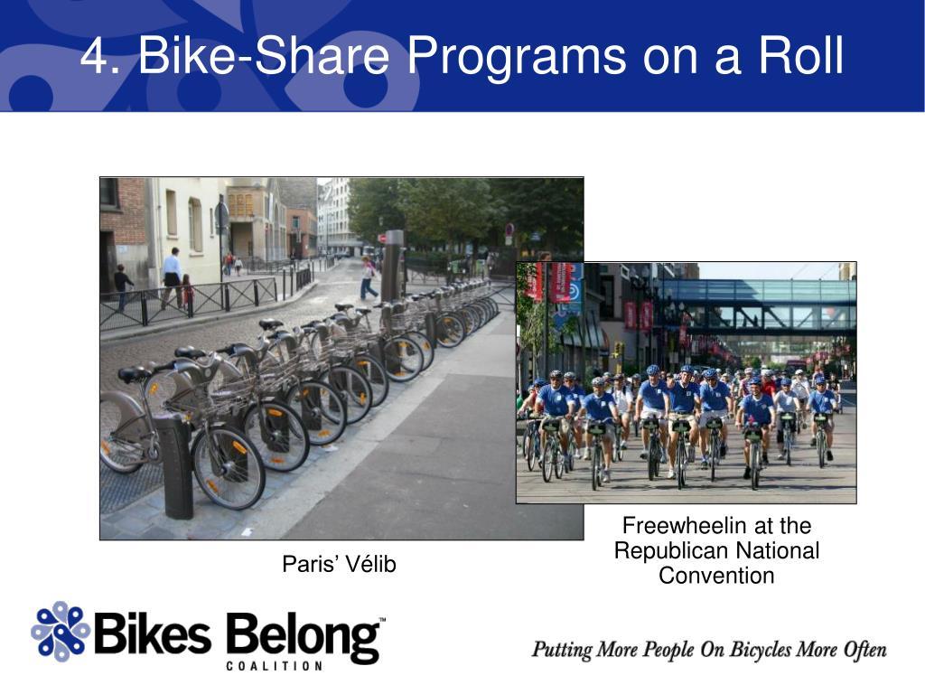 4. Bike-Share Programs on a Roll