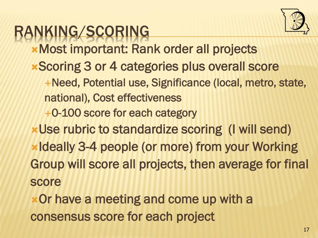 Most important: Rank order all projects