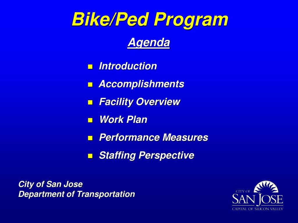 Bike/Ped Program