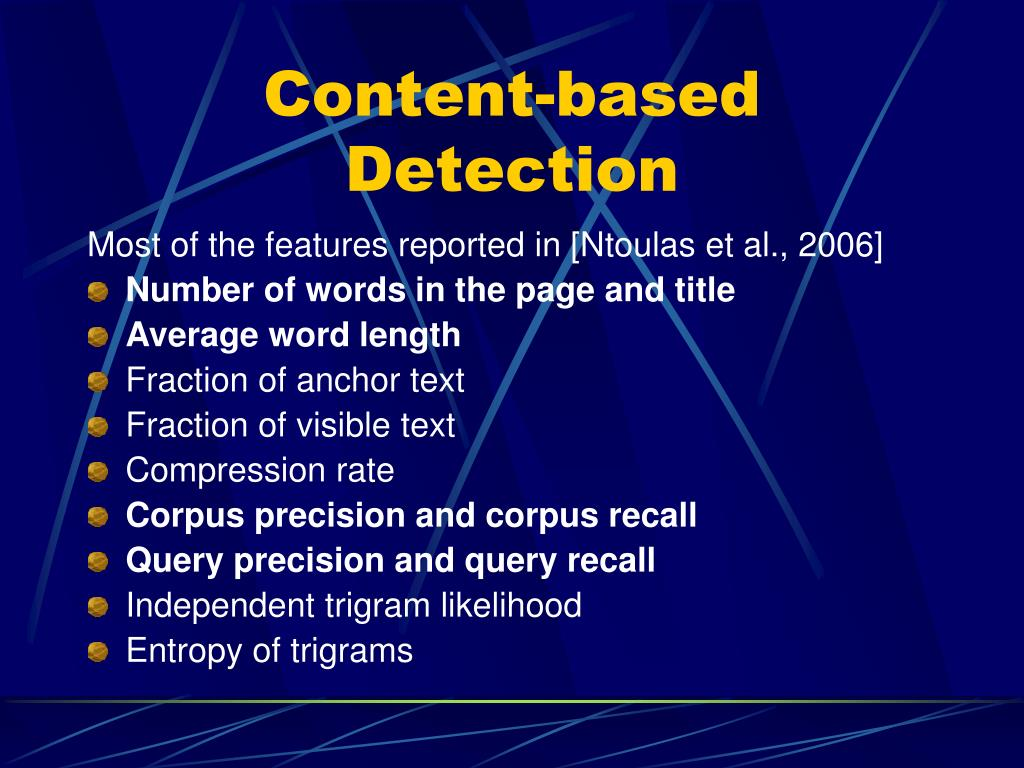 Content-based Detection