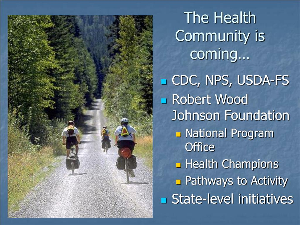 The Health Community is coming…