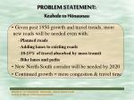 problem statement keahole to h naunau